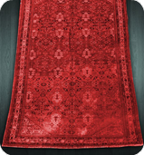 Red Dye Washed Rug