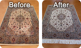 Before & After Rug Cleaning