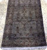Black Color Washed Rug