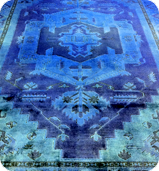 Blue Dye Washed Rug