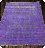Purple Dye Washed Rug