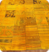 Yellow Dye Washed Rug